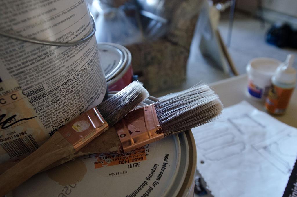 Herramientas para pintar en casa