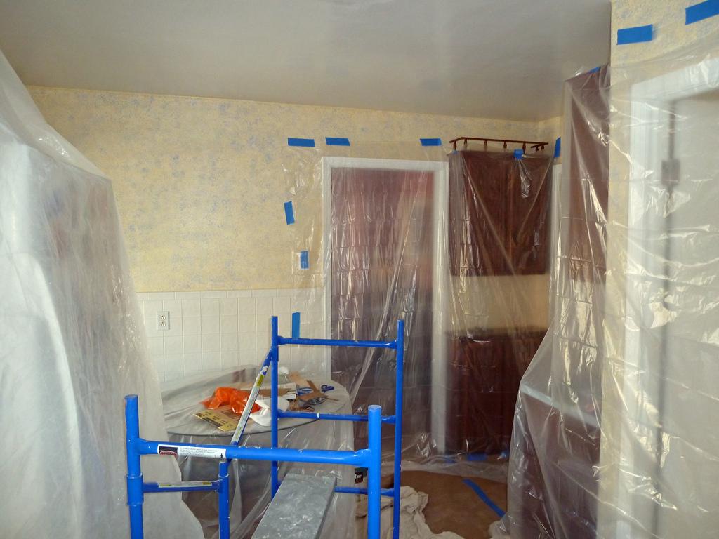 pintar el techo de la cocina