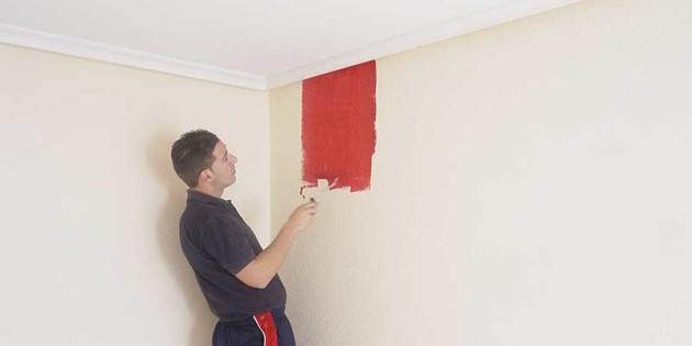 Como pintar techos y paredes materiales de construcci n para la reparaci n - Como pintar paredes y techos ...